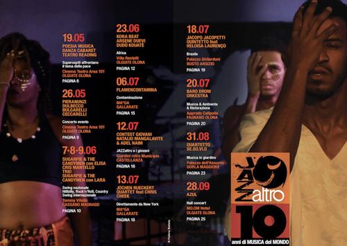 JAZZaltro, al via la X edizione con un evento speciale dedicato alla pace, le poesie di Paolo Fresu, il jazz degli ARS3 e molto altro