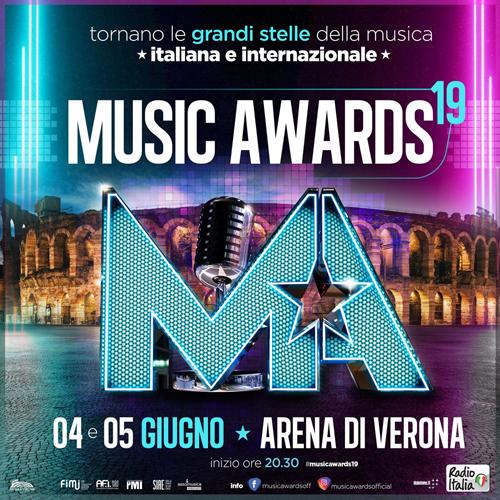 Music Awards 2019: il 4 e 5 giugno all'Arena di Verona, doppio appuntamento con le grandi stelle della musica italiana