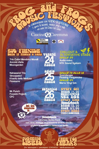 Prog and Frogs, happening a Cascina Caremma