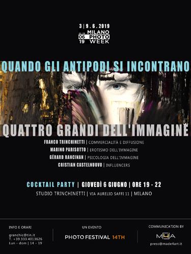 Quando gli antipodi si incontrano, la mostra presso lo storico Studio Trinchinetti di Milano