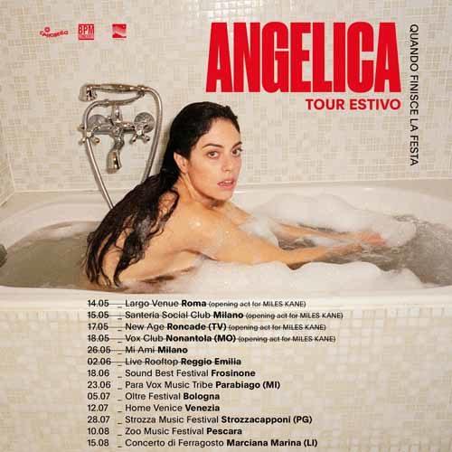 Angelica, annunciate le date del tour estivo