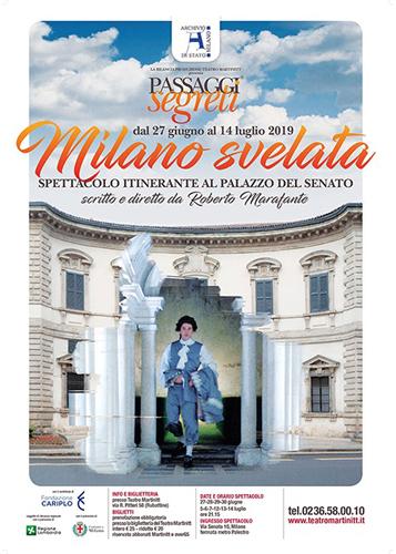 Passaggi Segreti nella storia di Milano. Spettacolo itinerante al Palazzo del Senato di Milano