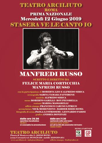 Stasera ve le canto io, lo spettacolo in scena al Teatro Arciliuto di Roma