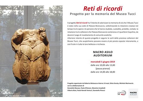Reti di ricordi Progetto per la memoria del Museo Tucci al Macro di Roma
