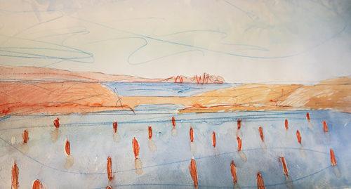 Segnacoli, l'installazione di Alberto Timossi nel Kothon dell'Isola di Mozia