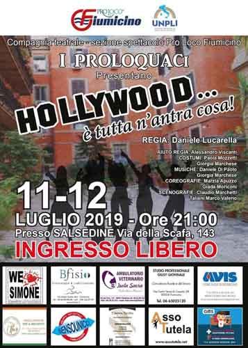 """Fiumicino torna il Teatro con la Compagnia della Pro Loco con """"Hollywood è tutta n'antra cosa"""""""