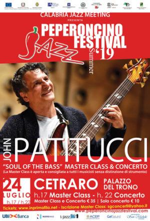 John Patitucci di scena a Cetraro per il XVIII Peperoncino Jazz Festival