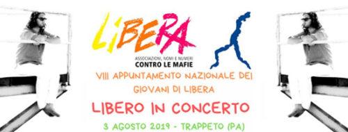 Libero Reina in concerto il 3 Agosto al raduno nazionale di Libera contro le mafie