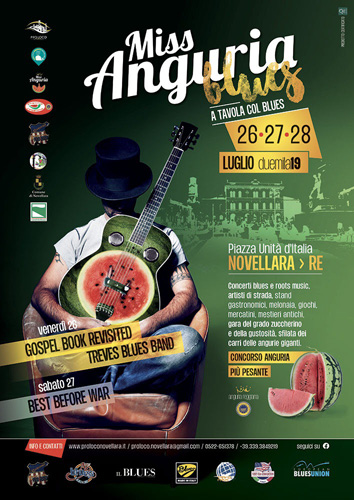 Miss Anguria Blues. Tre giorni dedicati all'anguria reggiana con Treves Blues Band, Gospel Book Revisited e Best Before War