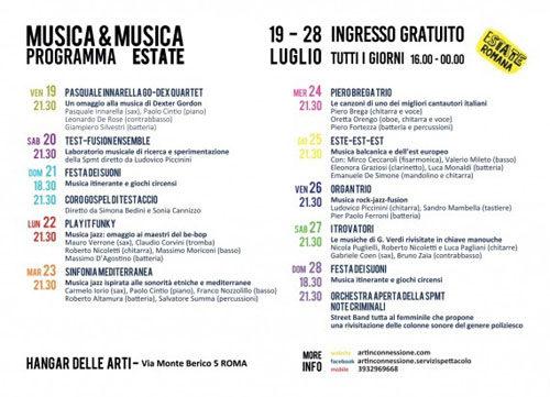 Musica&Musica Estate 2019. Concerti e Cabaret con la Scuola Popolare di Musica del Testaccio a Roma