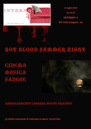 """Hot Blood Summer Night"", il viaggio nel genere ""Horror"" all'Interno 4 di Chiara Pavoni a Roma"