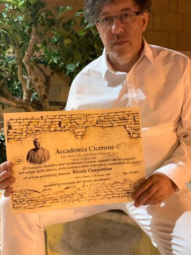 Nicola Convertino diventa membro permanente del Senato Accademico dell'Accademia Cicerone