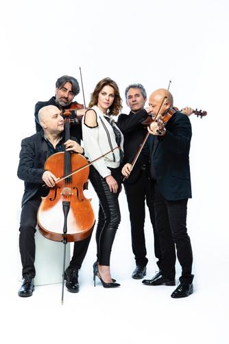 Claudia Gerini e Solis String Quartet in concerto a Minturno