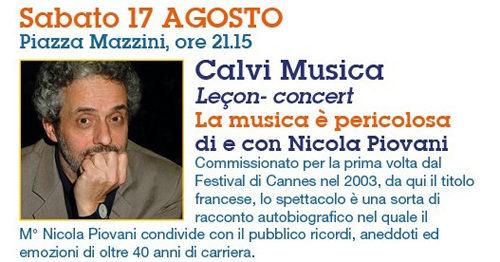 """Calvi Festival 2019, il Premio Oscar Nicola Piovani nella Leçon –Concert in """"La musica è pericolosa"""""""