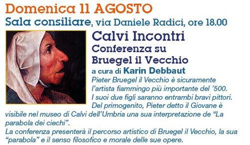 Calvi Festival 2019: per la sezione incontri, conferenza su Bruegel il Vecchio