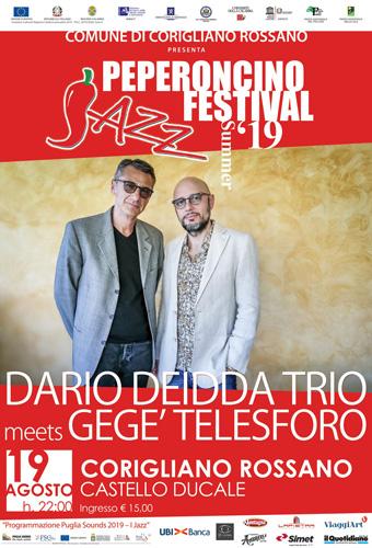 Gege' Telesforo e Dario Deidda a Corigliano Rossano per il 18.mo Peperoncino Jazz Festival