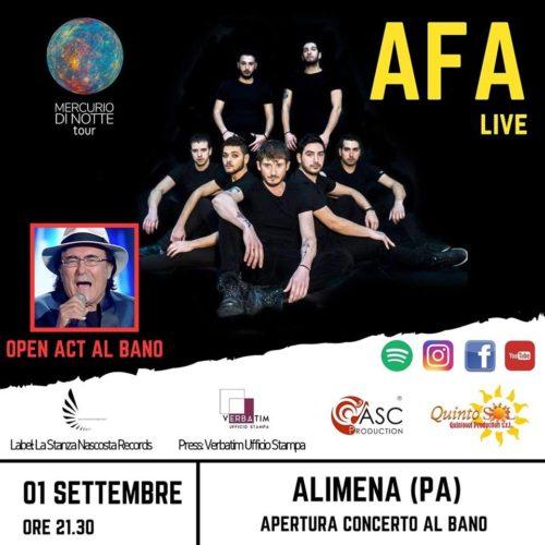 Gli Afa aprono l'atteso concerto di Al Bano ad Alimena