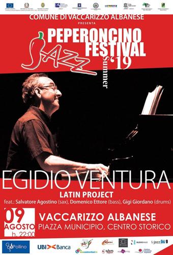 Egidio Ventura di scena domani al Peperoncino Jazz