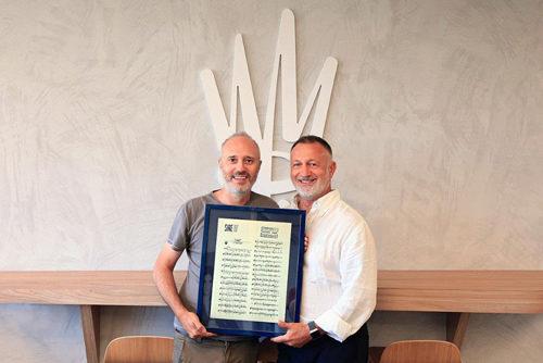 Warner Chappell Music Italiana celebra i 20 anni di collaborazione insieme a Diego Calvetti, autore in esclusiva dal 1999