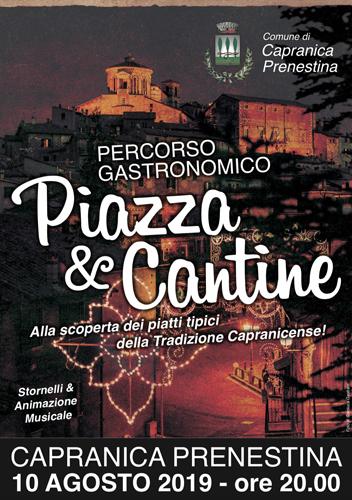 Piazza e Cantine, l'itinerario gastronomico sotto le stelle di Capranica Prenestina