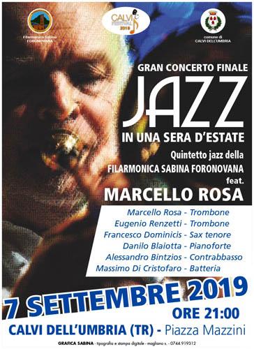 Marcello Rosa al Calvi Festival per il gran concerto finale in Jazz