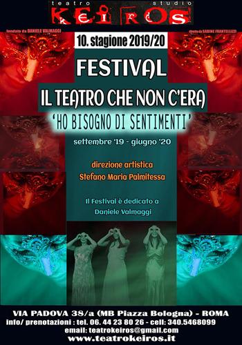 Una donna Fantasiusa di Stefano Maria Palmitessa apre il Festival al Teatro Keiros di Roma