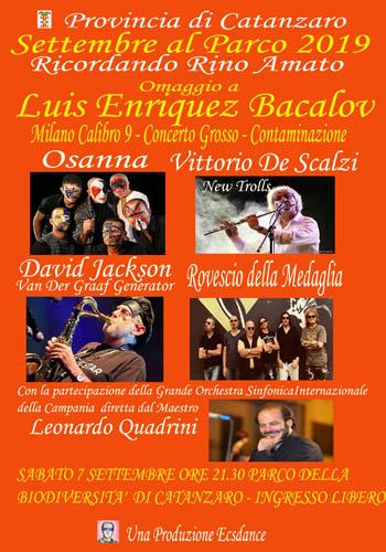 Osanna, Vittorio De Scalzi, Il Rovescio della Medaglia e David Jackson in concerto, dedicato a Rino Amato, a Catanzaro