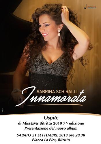Sabrina Schiralli, live alla settima edizione di Miss&Mr Bitritto