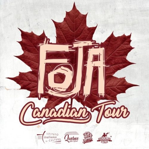 FOJA, dal 12 ottobre una lunga tournée in Canada