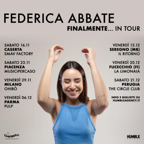 Federica Abbate. Annunciate le prime date del Finalmente... in tour
