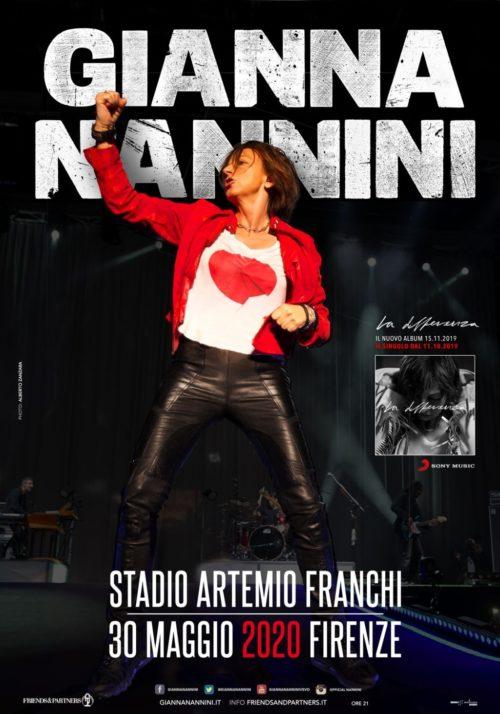 Gianna Nannini allo Stadio Artemio Franchi di Firenze