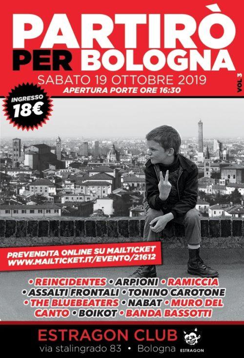 Partirò per Bologna all'Estragon Club di Bologna