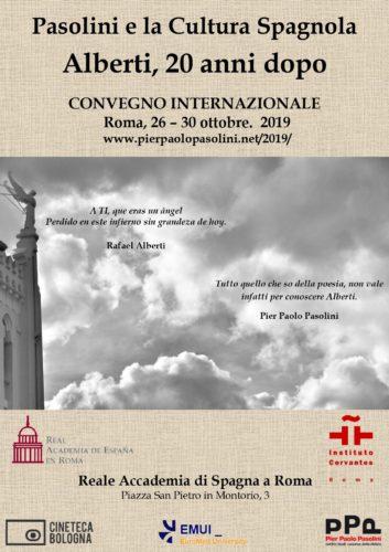 A Roma il convegno internazionale 'Pasolini e la cultura spagnola: Alberti, 20 anni dopo'