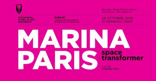 Space Transformer, la personale di Marina Paris negli spagli della GABA.MC – Galleria dell'Accademia di Belle Arti di Macerata