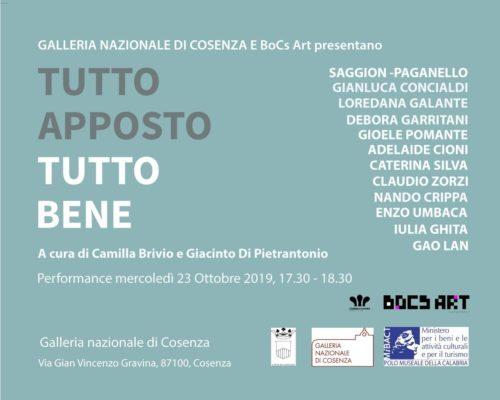 Tutto apposto – tutto bene la performance alla Galleria Nazionale di Cosenza