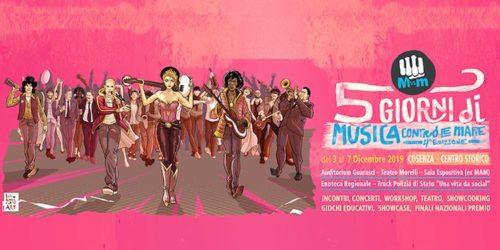 5 Giorni di Musica contro le mafie, il programma completo. Tra gli ospiti anche The Zen Circus e Motta