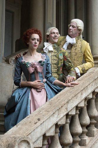 """""""Amadeus"""" di Peter Shaffer con Geppy Gleijeses Lorenzo Gleijeses regia Andrei Konchalovsky al Teatro Quirino di Roma"""