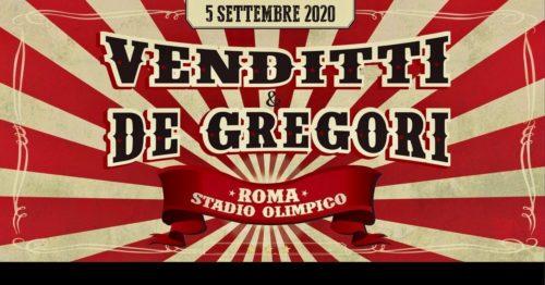 Antonello Venditti & Francesco De Gregori insieme live allo Stadio Olimpico di Roma