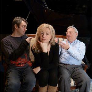 Loredana D'Anghera e i pianisti Massimiliano Damerini e Andrea Pozza alla Camera del Lavoro di Milano