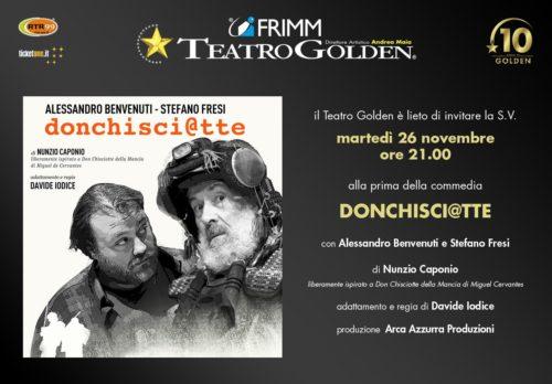 """""""Donchisci@tte"""" con Alessandro Benvenuti e Stafano Fresi al Teatro Golden di Roma"""