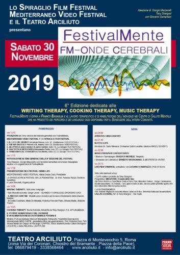 """Al Via la 6ª Ed. di """"FestivalMente FM – Onde Cerebrali – THE ART OF MIXING"""""""