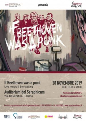 """If Beethoven was a punk"" in scena all'Auditorium del Seraphicum di Roma"