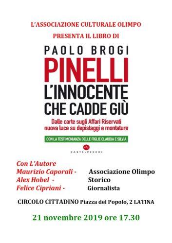 L'innocente che cadde giù, Paolo Brogi a Latina col suo ultimo libro