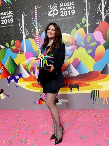 Laura Pausini vince il Premio alla carriera nella categoria Golden ai Los40 Music Awards
