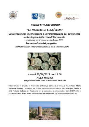 Le monete antiche di Elea Velia. Il progetto di restauro selezionato per il concorso di Art Bonus 2019