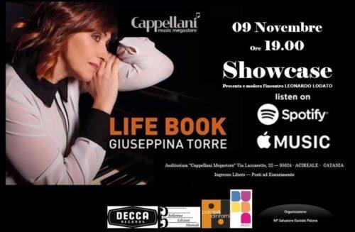 """Giuseppina Torre al Cappellani Music Megastore di Acireale presenterà in uno speciale showcase il suo ultimo album di composizioni inedite """"Life Book"""""""