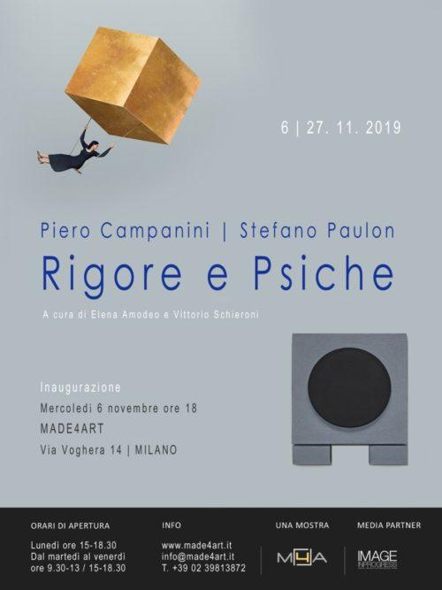 Rigore e Psiche, il progetto espositivo di Piero Campanini e Stefano Paulon in mostra al MADE4ART di Milano