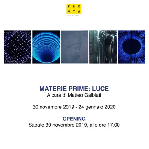Materie prime: luce, la mostra alla Kromya Art Gallery di Lugano