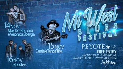 Mi-West Blues Festival grande musica e american food al Peyote Cafè Magenta dal 14 al 16 novembre
