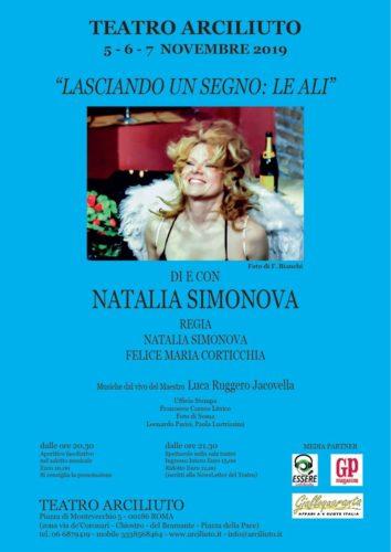 """Al Teatro Arciliuto di Roma Natalia Simonova in """"Lasciando un Segno: Le ali"""""""